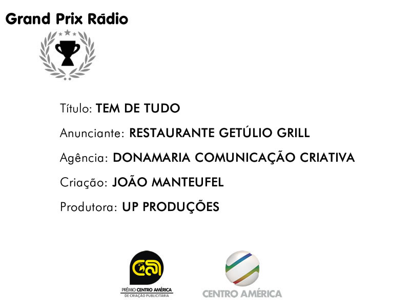 Vencedor da categoria Rádio