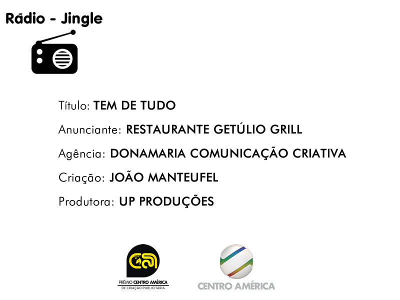 Vencedor da categoria Rádio Jingle