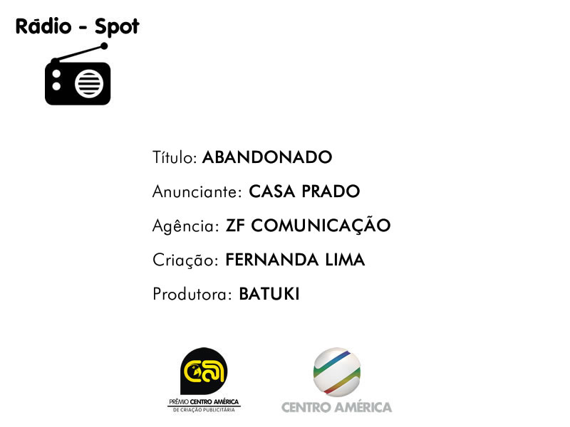 Vencedor da categoria Rádio Spot